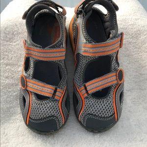 Stride Rite Mateo Gray /Orange Trail Sandals